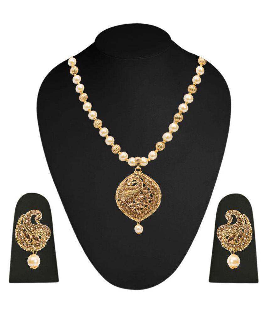 Elearray Wear Golden Necklaces Set