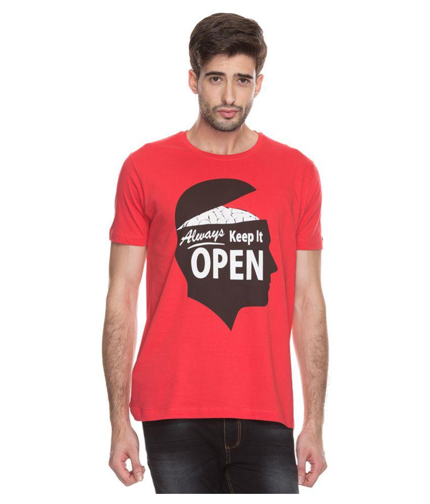 Status Quo Red Round T-Shirt