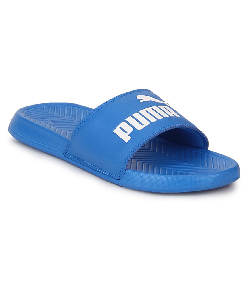 2e6c04a30c0 Puma Puma Popcat Blue - White Blue Slide Flip flop Price in India- Buy Puma  Puma Popcat Blue - White Blue Slide Flip flop Online at Snapdeal