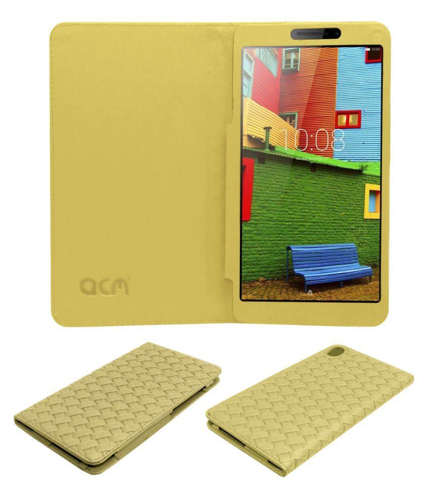 "new product df907 fbdc3 Lenovo Phab 6.98"" Designer Flip Cover By Acm Golden"