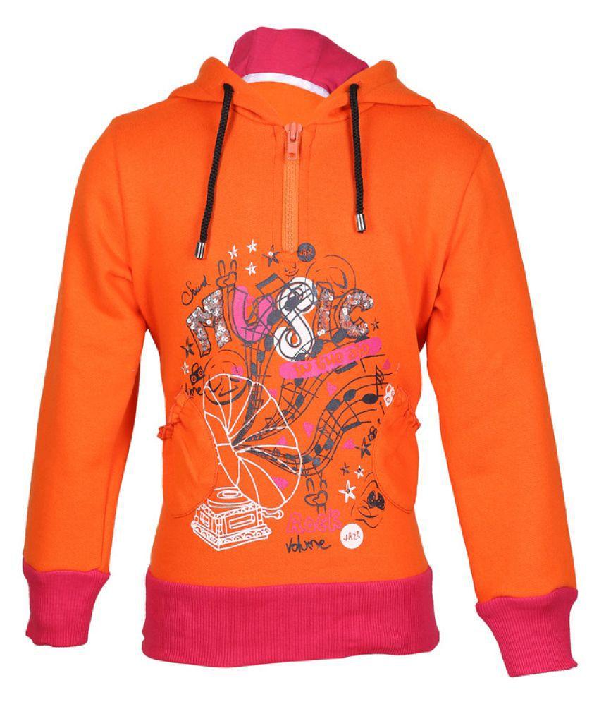 Cool Quotient Orange Music Sweatshirt