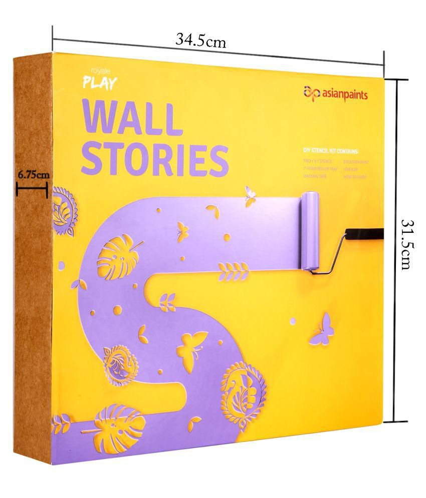 Compare Price To Wall Painting Kit: Buy Asian Paints Wall Stories Butterfly DIY Stencil Kit