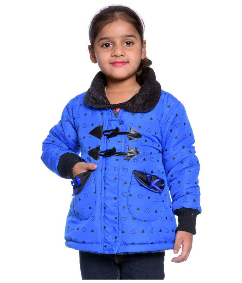 Come In Kids Blue Printed Jacket