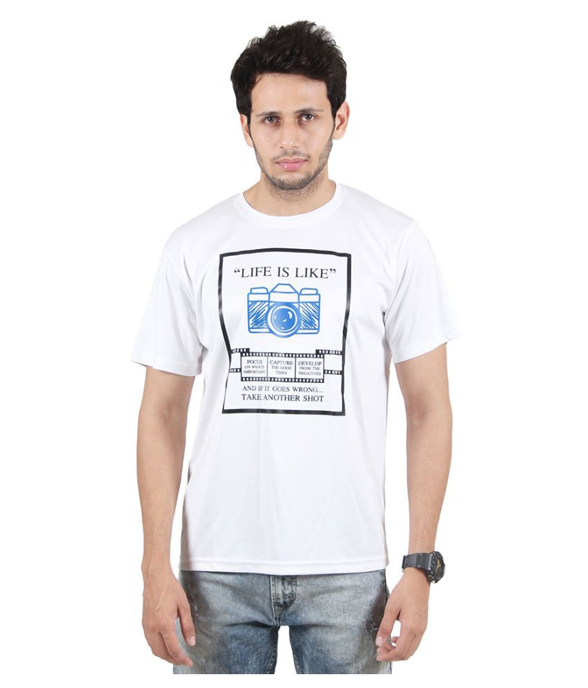 SSAK White Round T-Shirt
