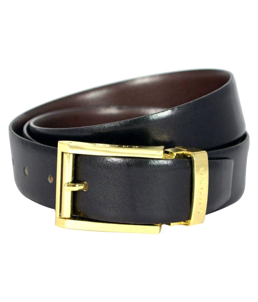 Cross Black Leather Formal Belts