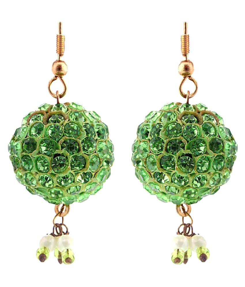 Sunshine Rajasthan Green Jhumka Earrings