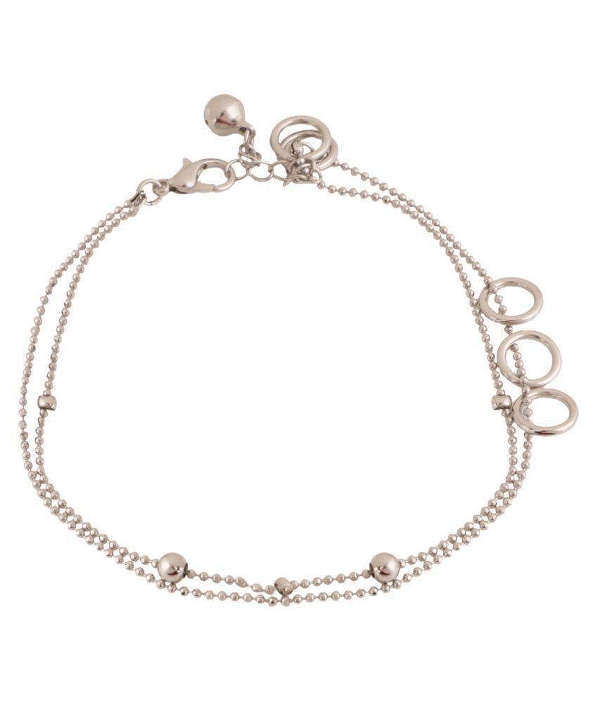 Jazz Jewellery Silver Alloy Anklets