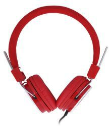 Vetro On Ear Wired Headphones With Mic Red