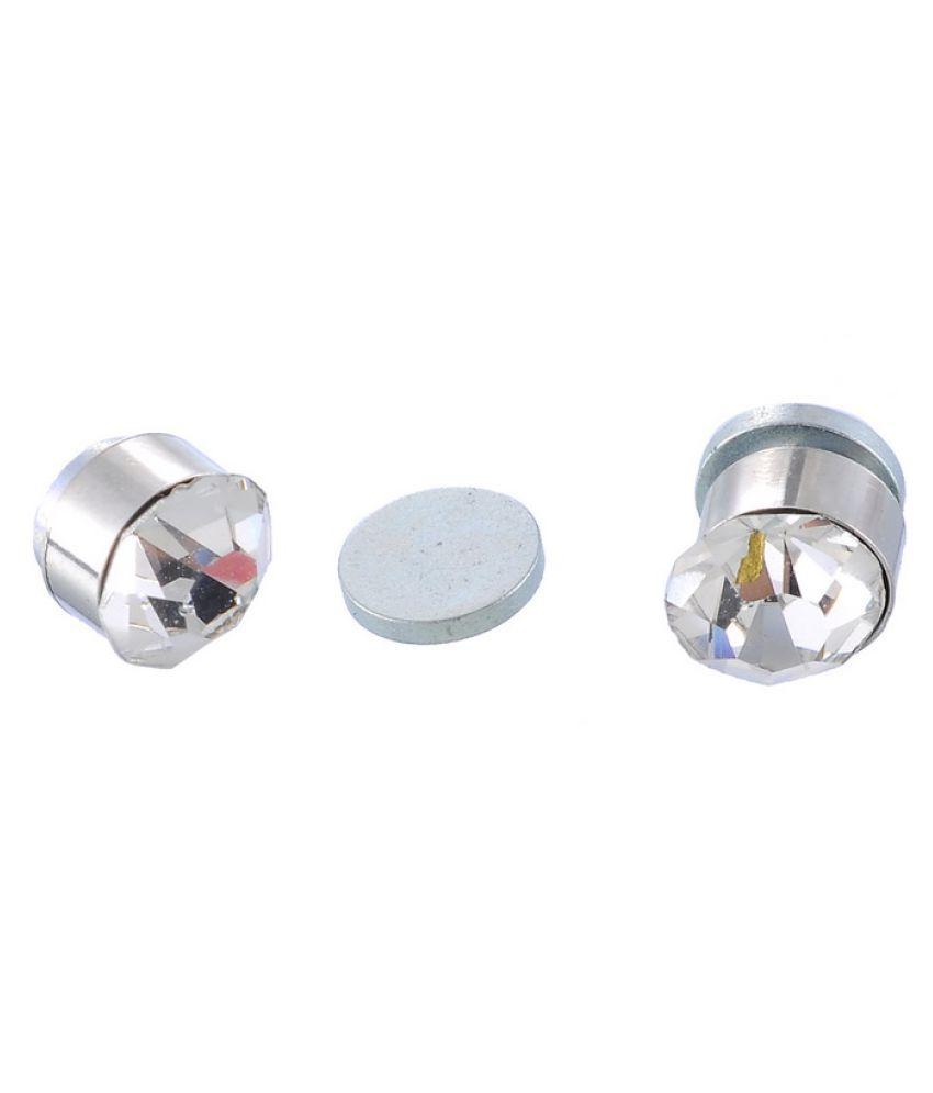 Earrings Men Boys Studs Silver Round Cz Magnetic Non Pierced Fashion  Bali By Bebold