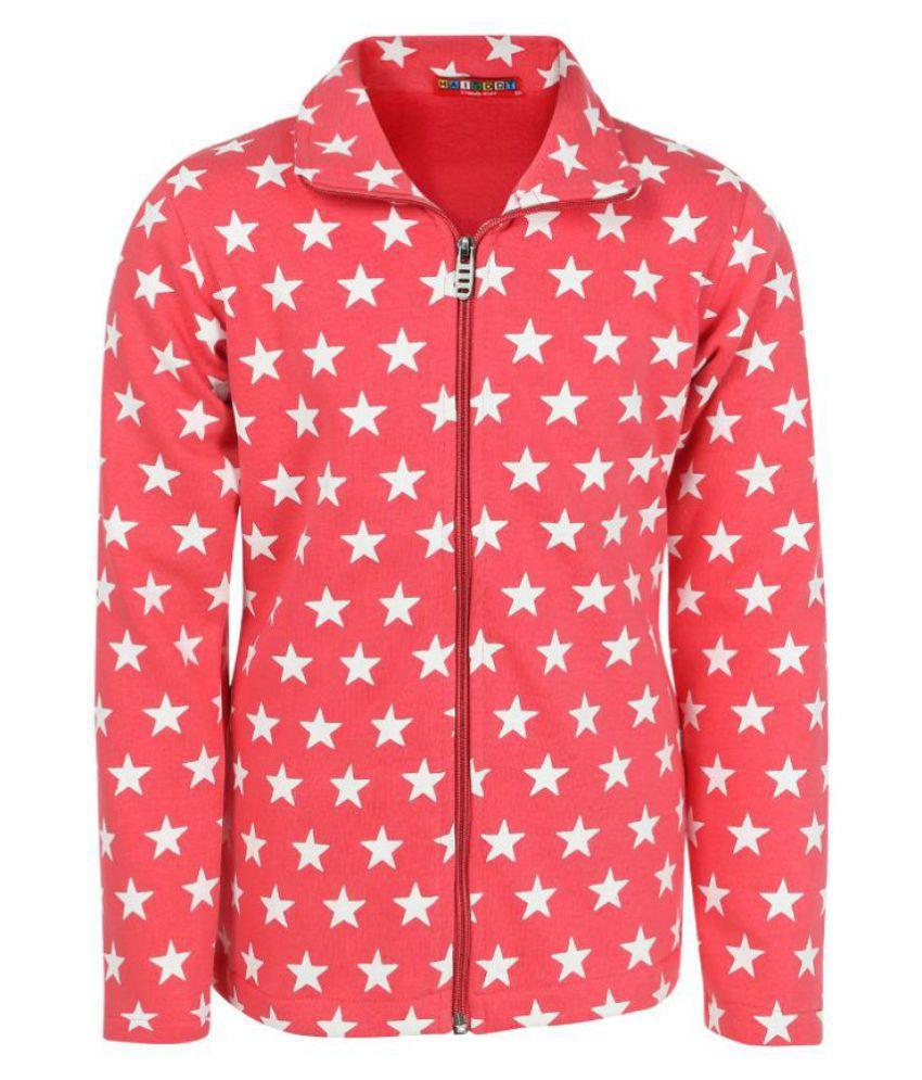 Haig-Dot Coral Collar Sweatshirt for Girls