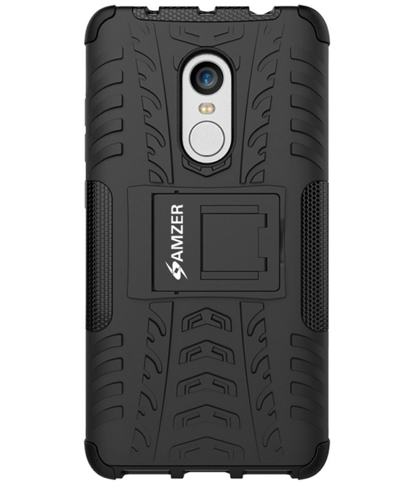 meet b6a8d 4ed08 Xiaomi Redmi Note 4 Case With Stand by AMZER - Black