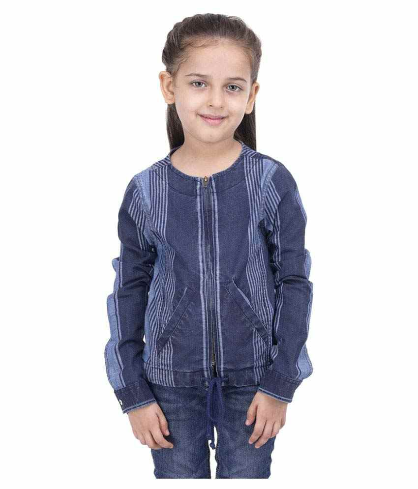 Girls Blue Bomber Jacket