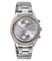 Titan Silver Analog Watch