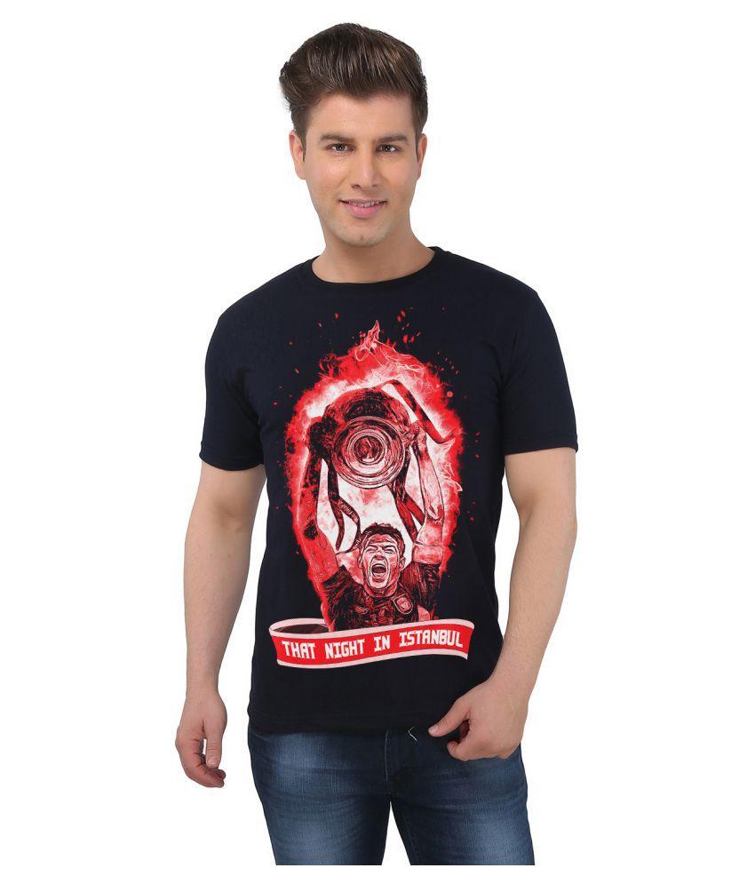 Eetee Black Round T-Shirt
