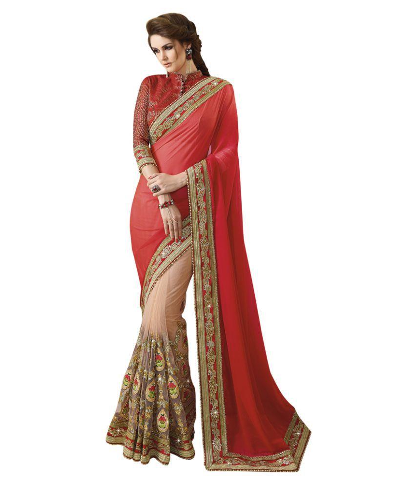Swaron Multicoloured Chiffon Saree