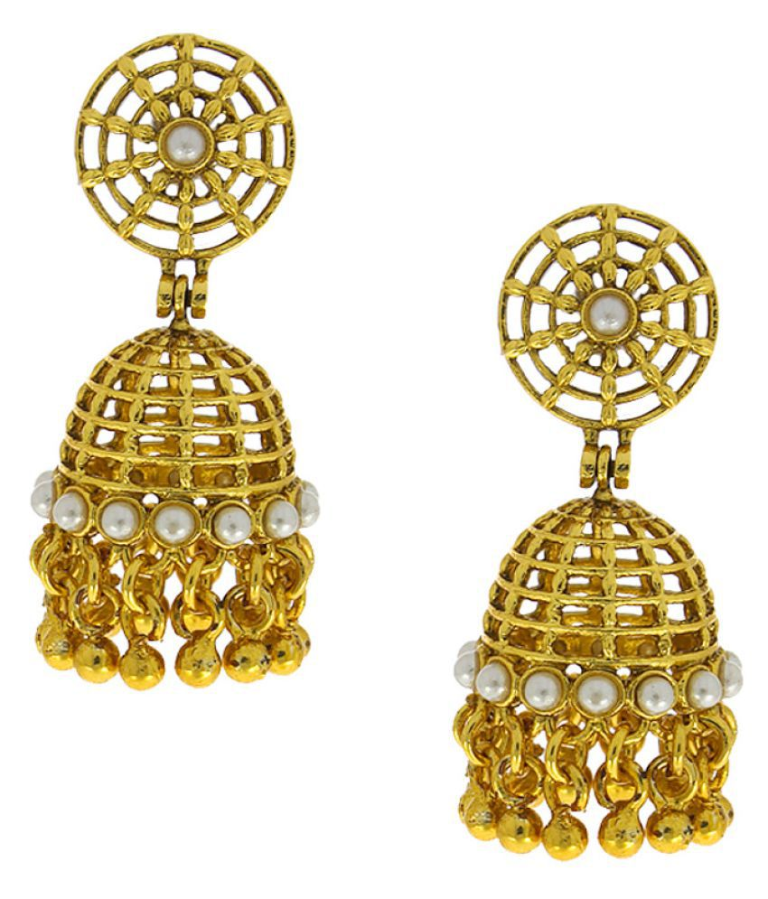 Anuradha Art Golden Colour Jhumka Styled Very Stylish Classy Earrings For Women/Girls