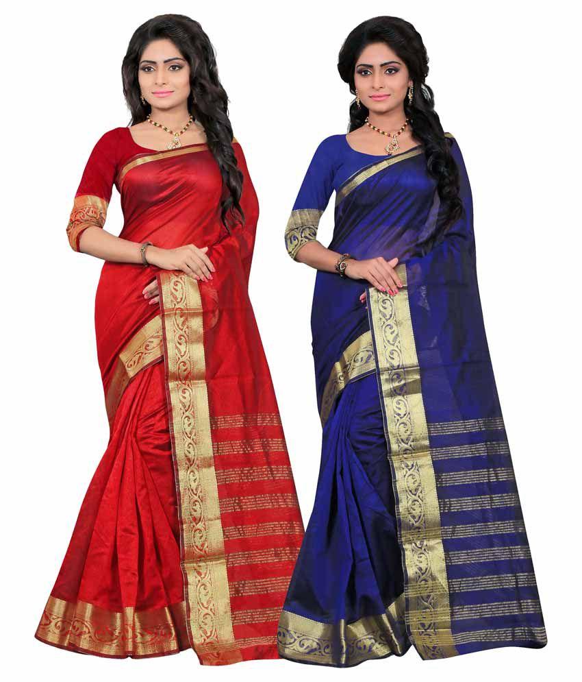 It's Bani Multicoloured Art Silk Saree Combos