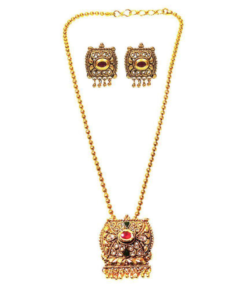 Satyam Jewellery Nx Traditional Pendent Set For Women Fashion Jewellery