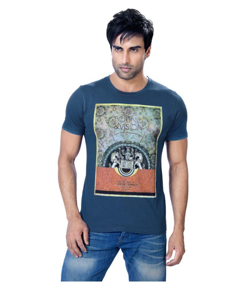 Astron Blue Round T-Shirt