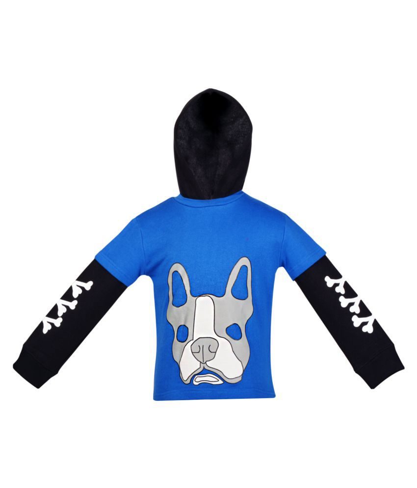 Gkidz Boys Full Sleeve Hooded Sweatshirt