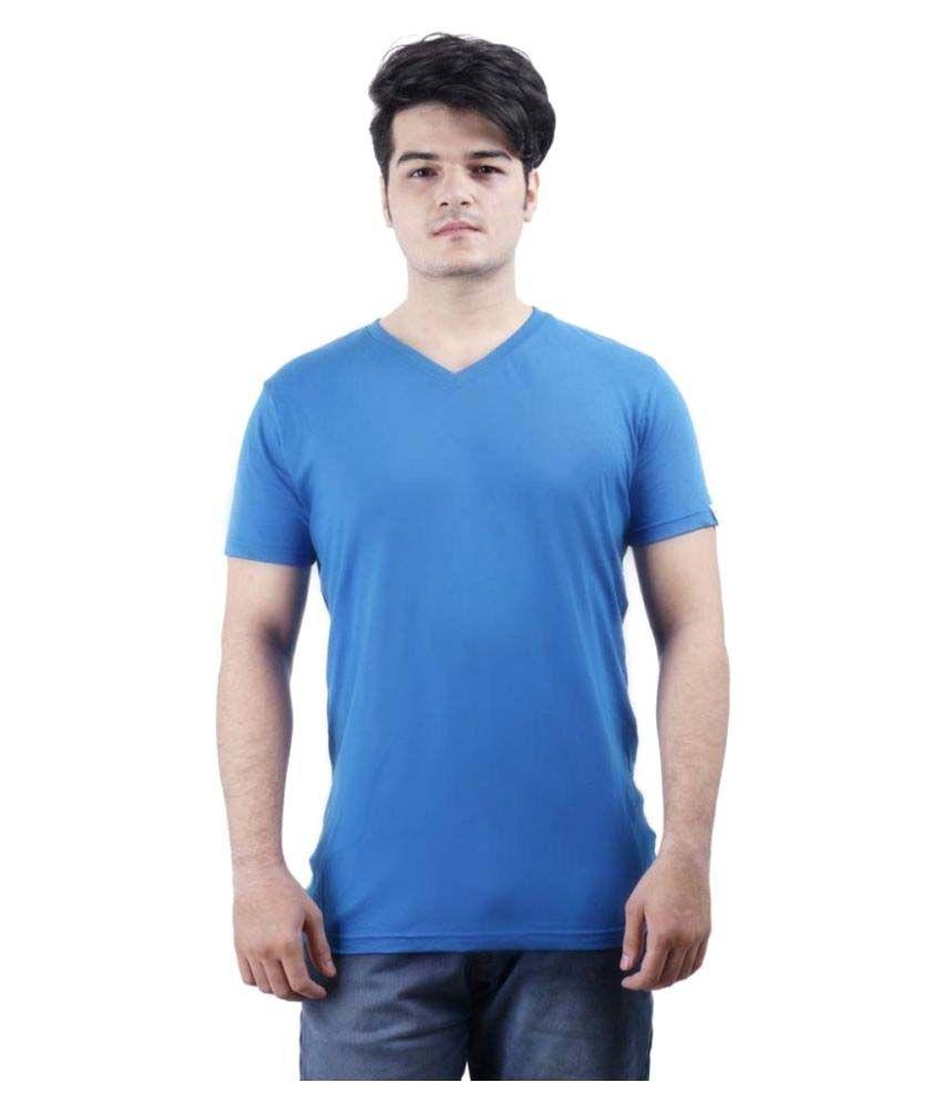 Wrapcupid Blue V-Neck T-Shirt