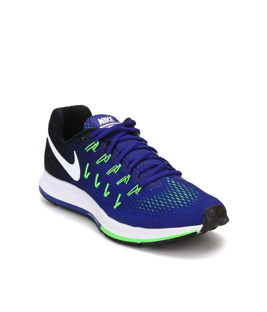 2dd4c1af833 Nike Air zoom 33 pegasus Nike Air Zoom Pegasus 33 Blue Training Shoes  available at SnapDeal