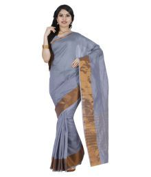 Nilesh Fab Grey Cotton Silk Saree