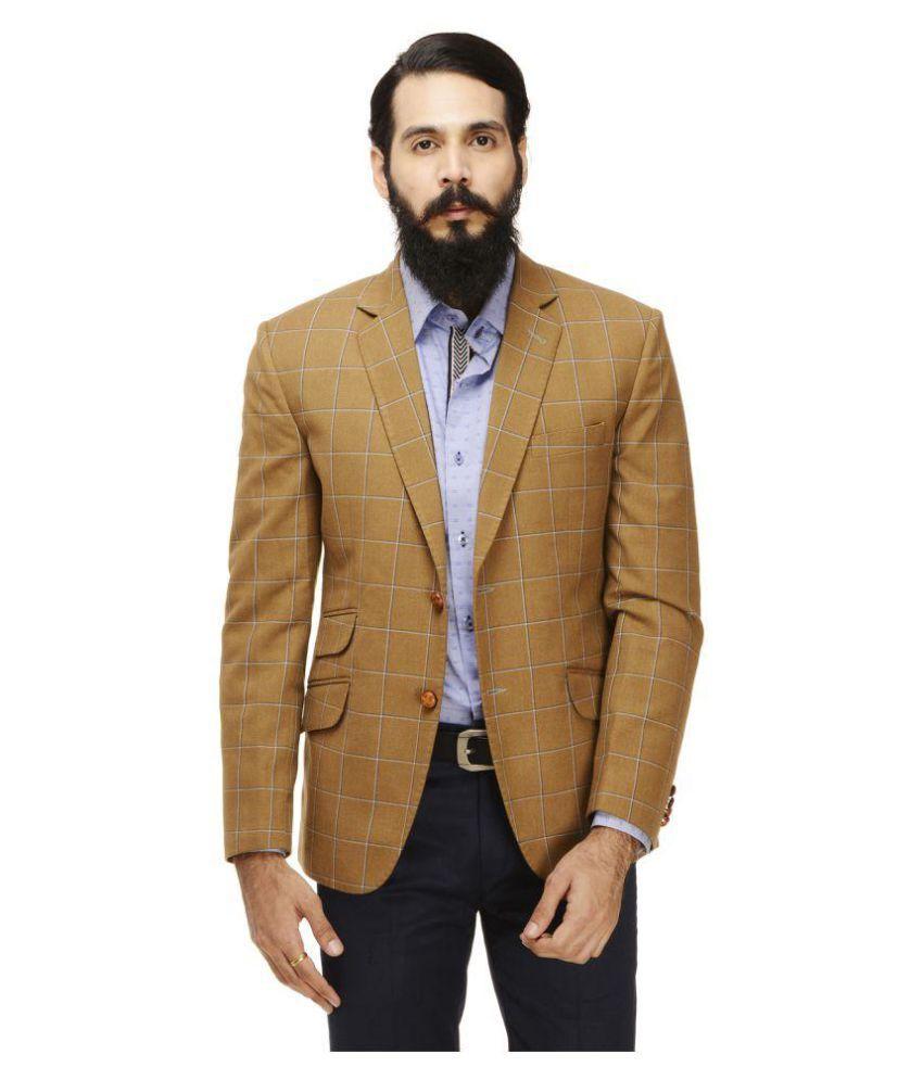 Monteil & Munero Khaki Checks Casual Blazers