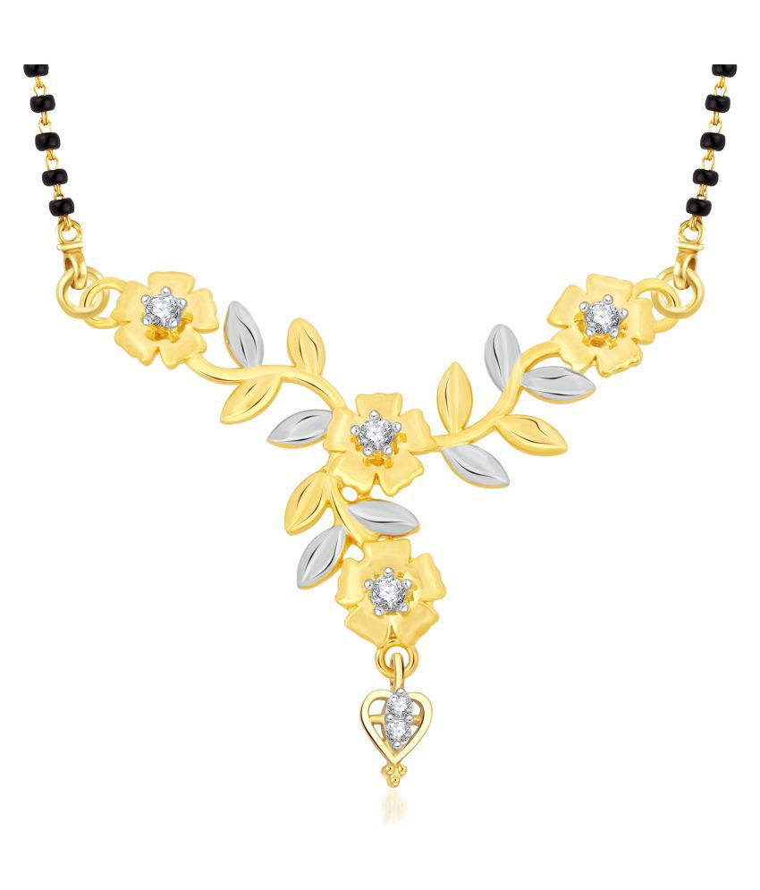 Vshine Fashion Jewellery Golden Alloy Mangalsutra