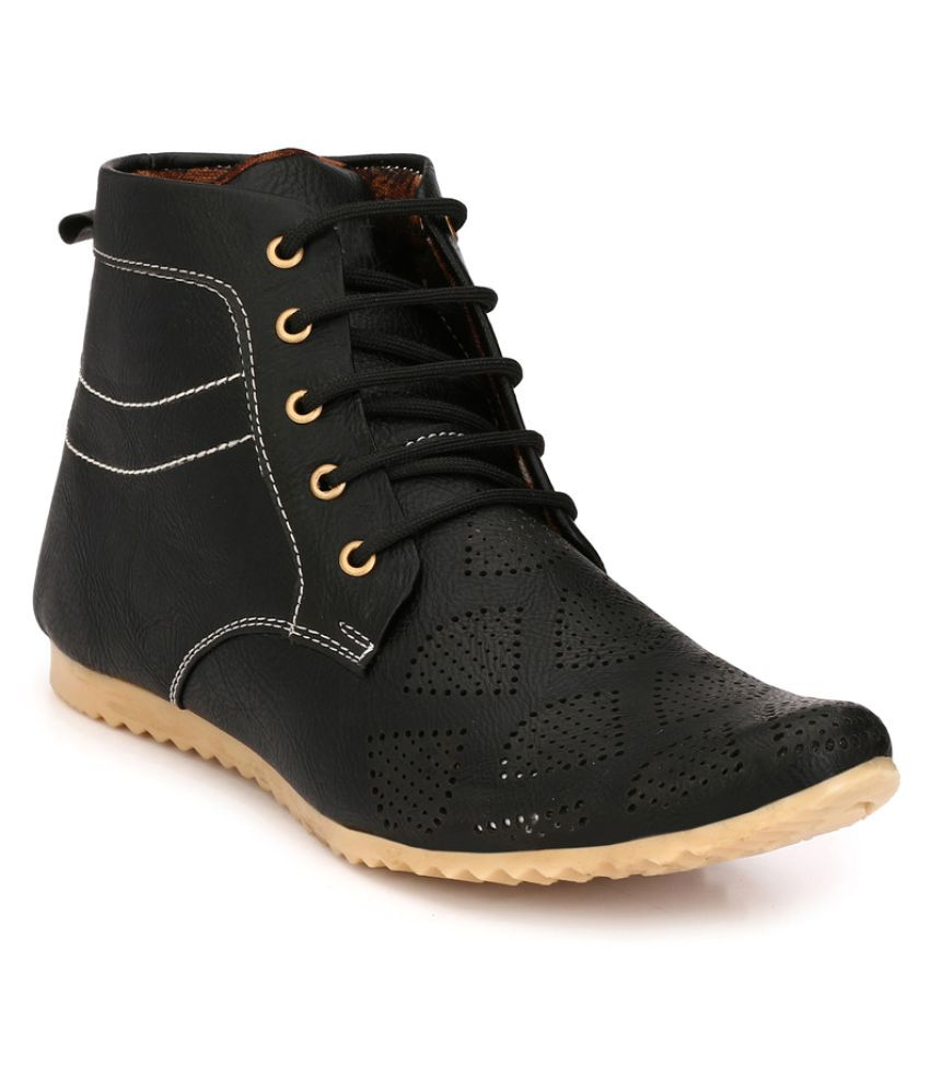 Apaxy Black Casual Boot