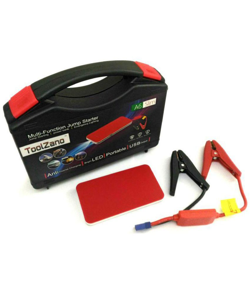 Toolzano A6 Slim Emergency Vehicle Jumpstarter Synthetic Muti-color Utility Premium Innovative Product