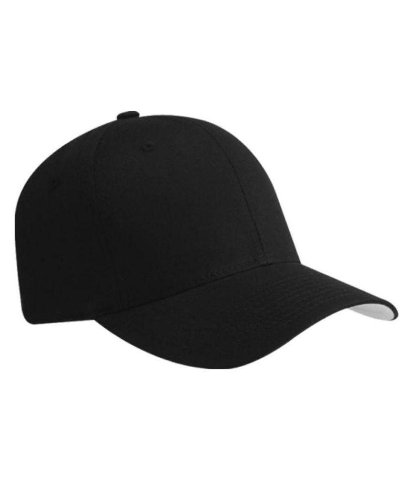Roy Black Plain Cotton Caps - Buy Online   Rs.  381338f5757