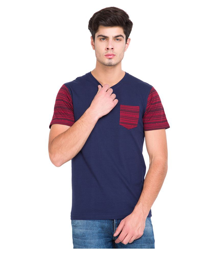 Highlander Navy V-Neck T-Shirt