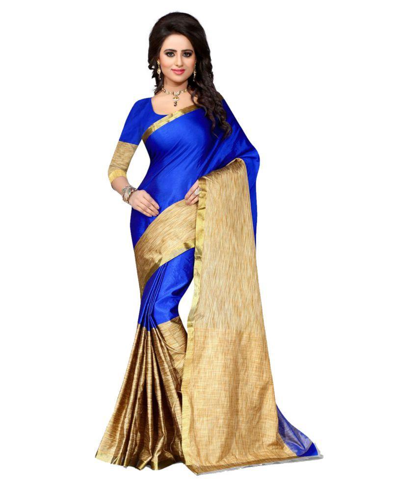Fashiondeal Multicoloured Cotton Silk Saree
