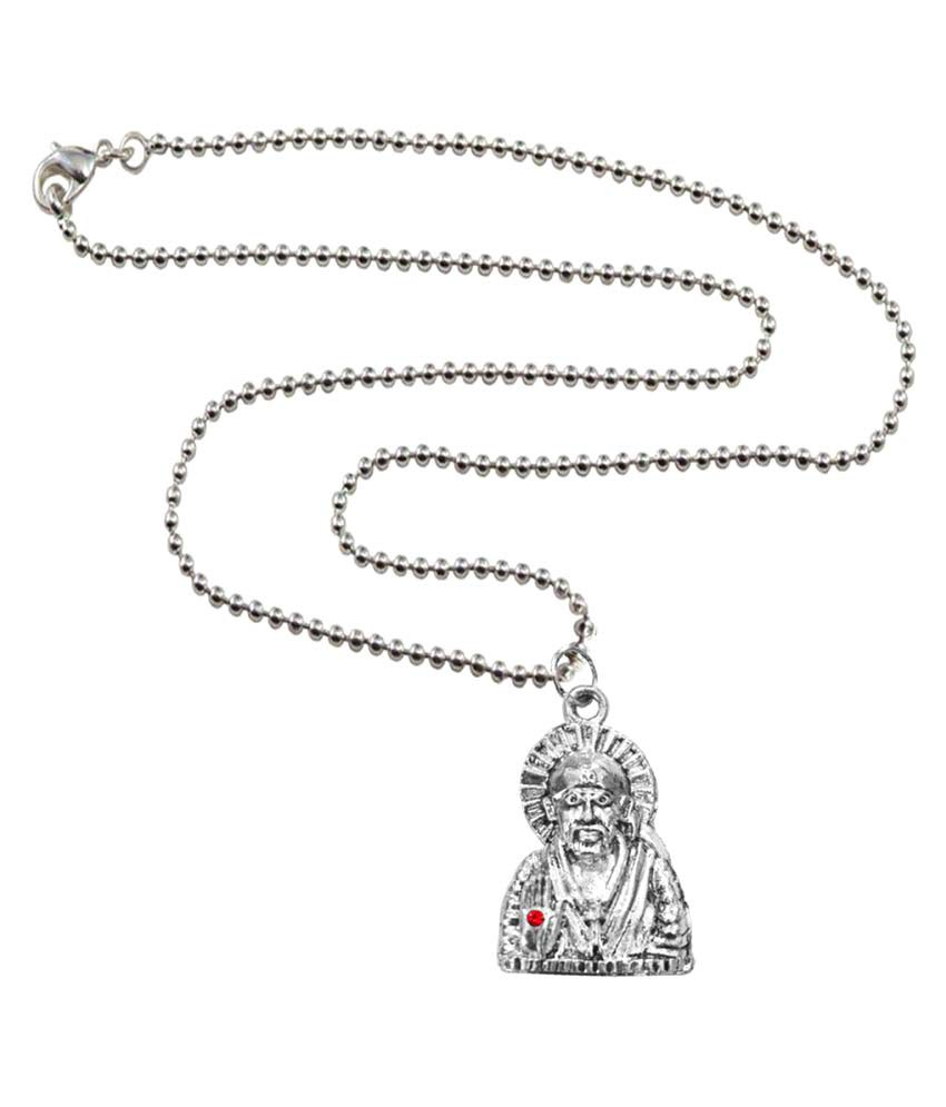 Mens Jewell White Alloy Pendant