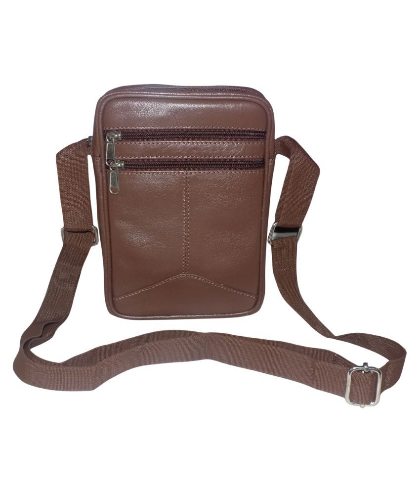 Style 98 Stylish Brown Leather Casual Messenger Bag
