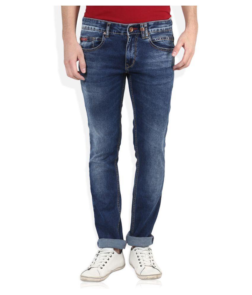 Lee Cooper Blue Regular Fit Faded