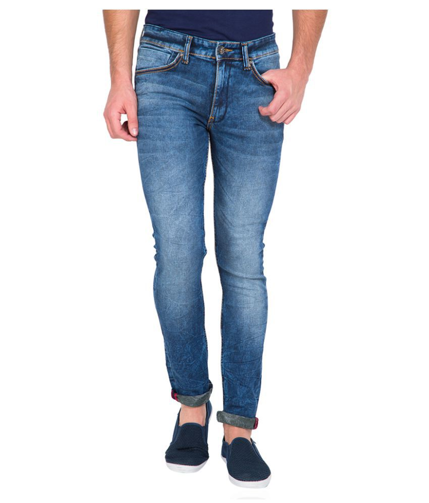 Locomotive Dark Blue Slim Washed