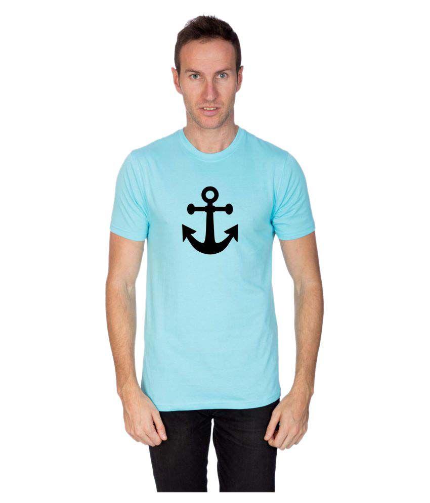 Artist Blue Round T-Shirt