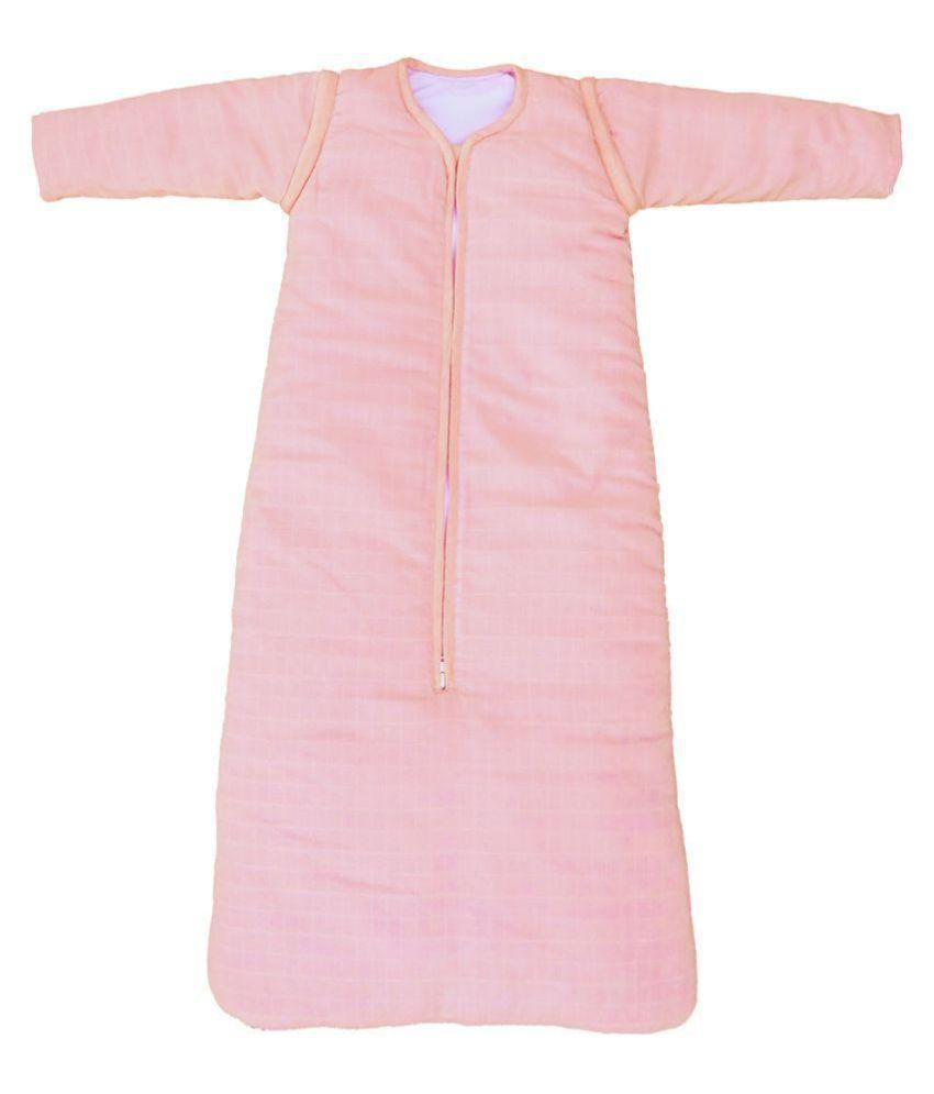 Taftan European Brand Organic Full Sleeve Adjustable Sleeping Bag  - Pink - Age 0-1 year - 90 cm