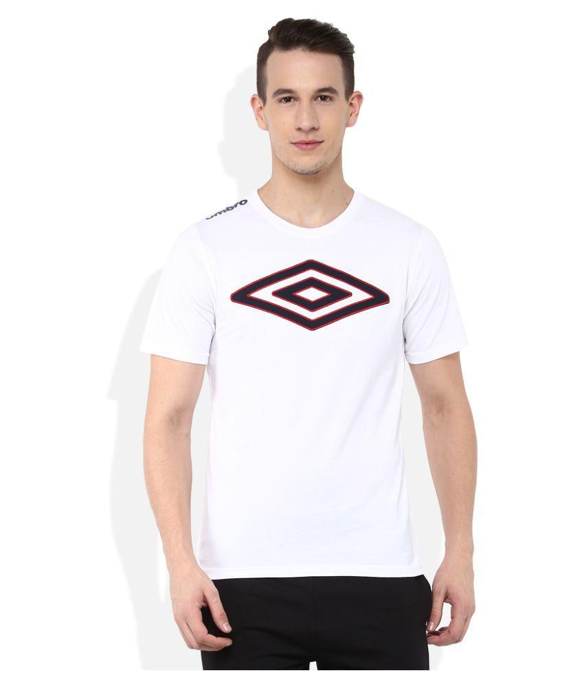 Umbro White Cotton T-Shirt Single Pack