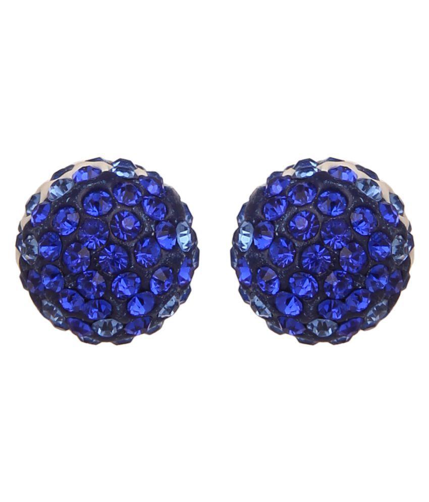 Shraddha Blue Stud Earrings