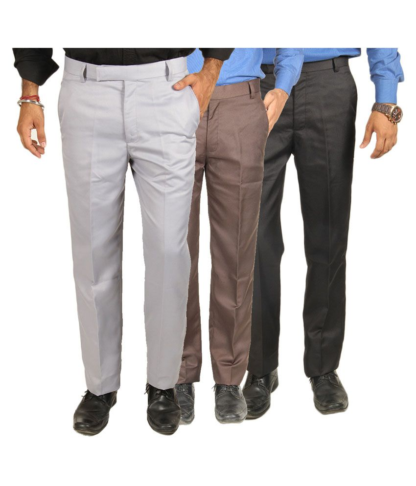 Van Galis Multi Regular Pleated Trouser - Pack of 3