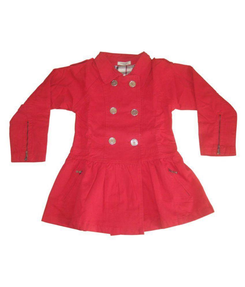 Burberry Warm Cotton Jacket For Kids Girls