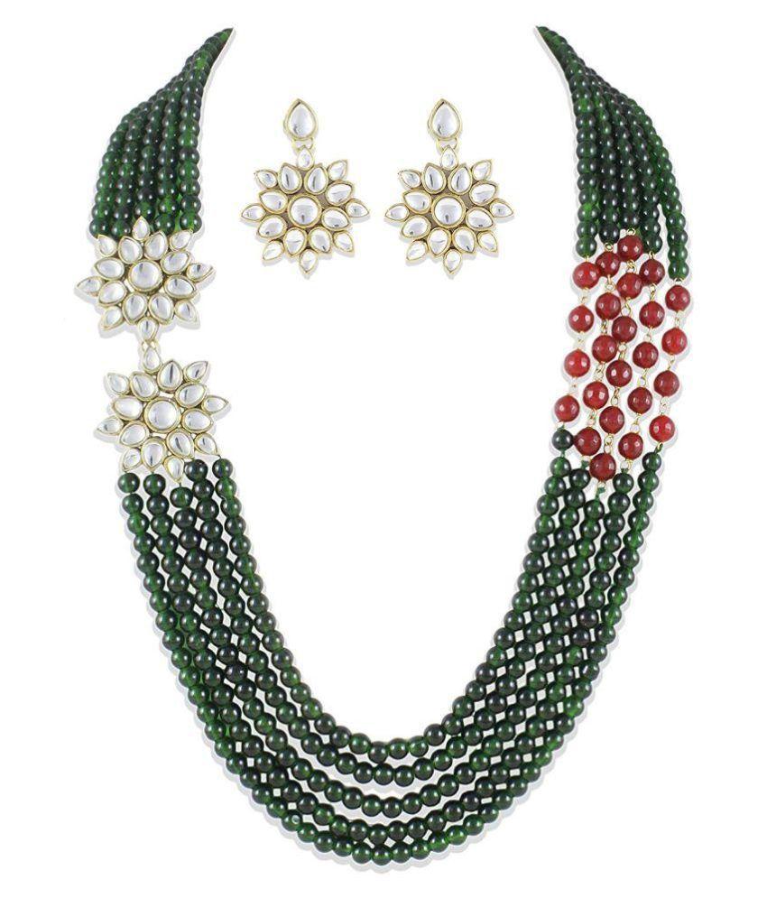 Shining Diva Fancy Party Wear Kundan Traditional Jewellery Necklace Set For Women