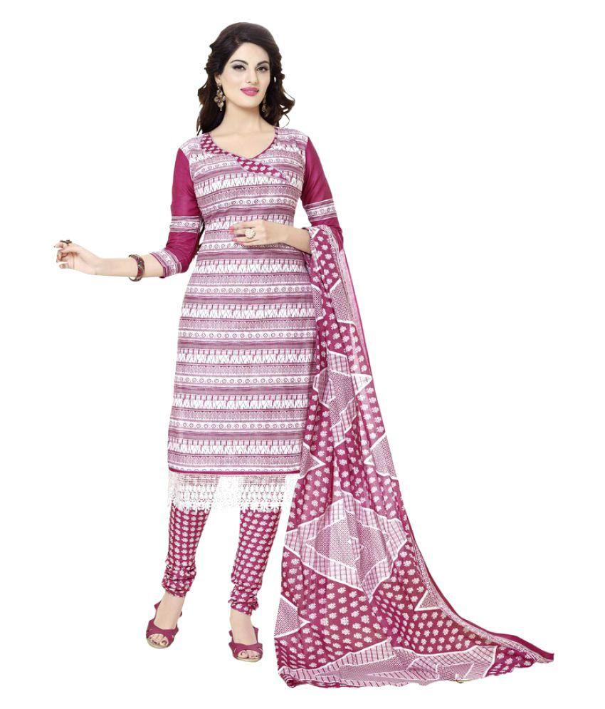 Minu Multicoloured Cotton A-line Stitched Suit