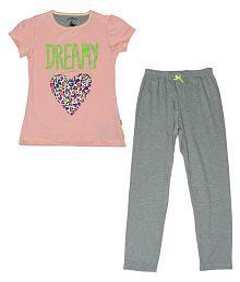 Mackly Multicolour Cotton Top and Pyjamas Set