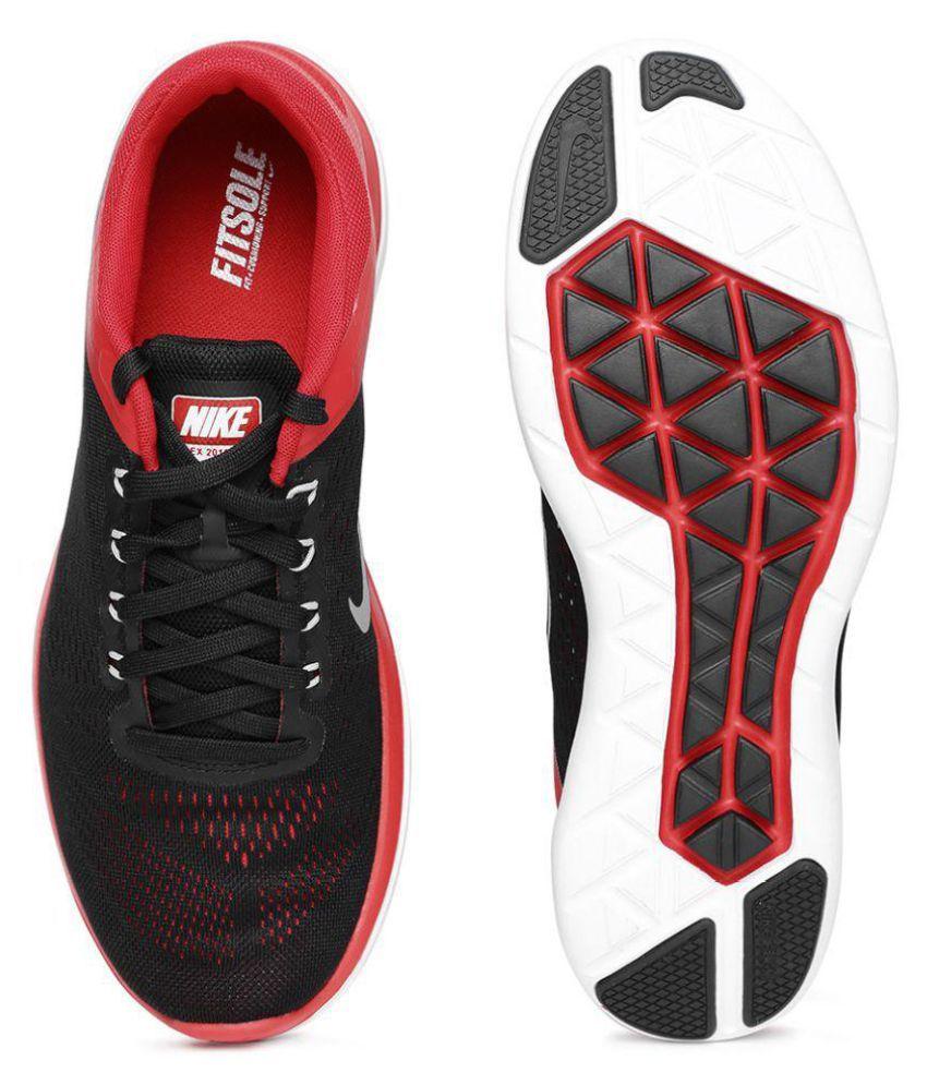 f89b6bf6b3b7 Nike FLEX 2016 RN Black Running Shoes - Buy Nike FLEX 2016 RN Black ...