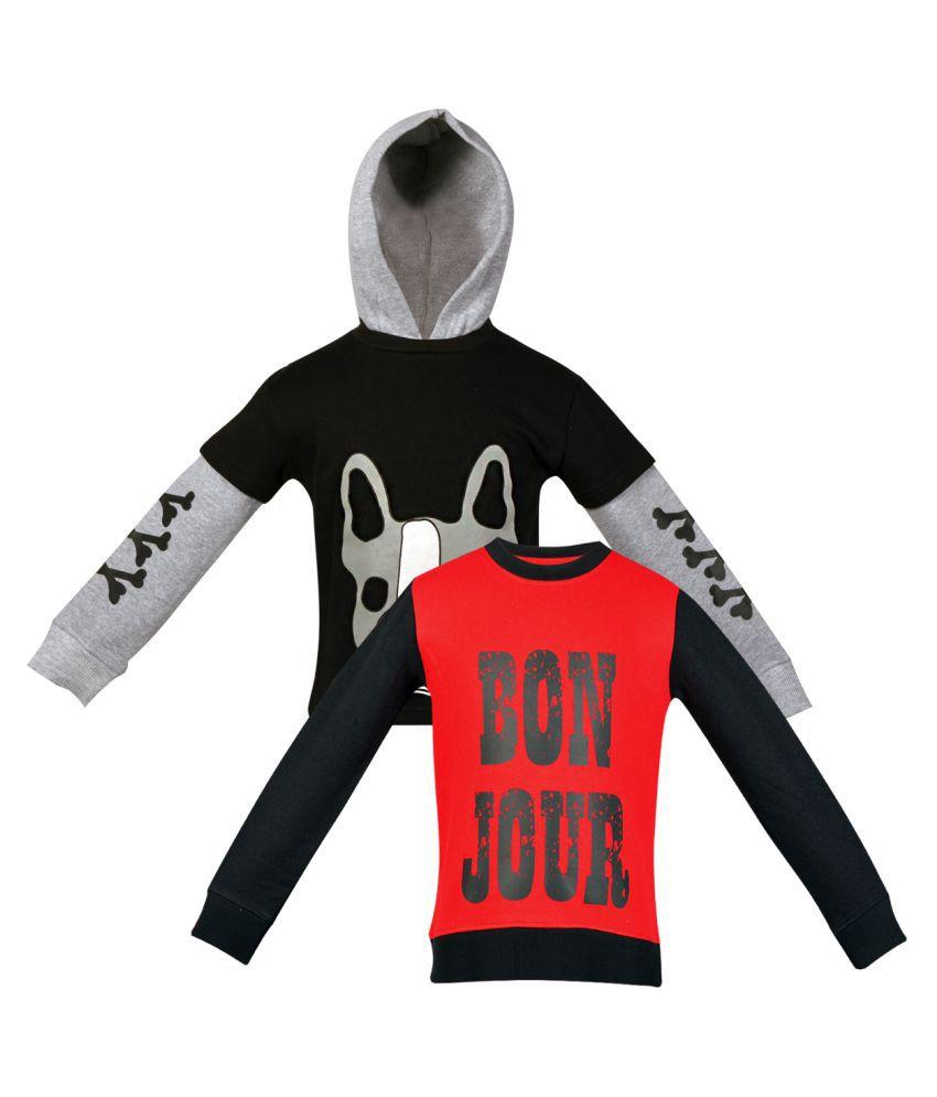 Gkidz Multi Color Crew Neck Sweatshirt Pack Of 2