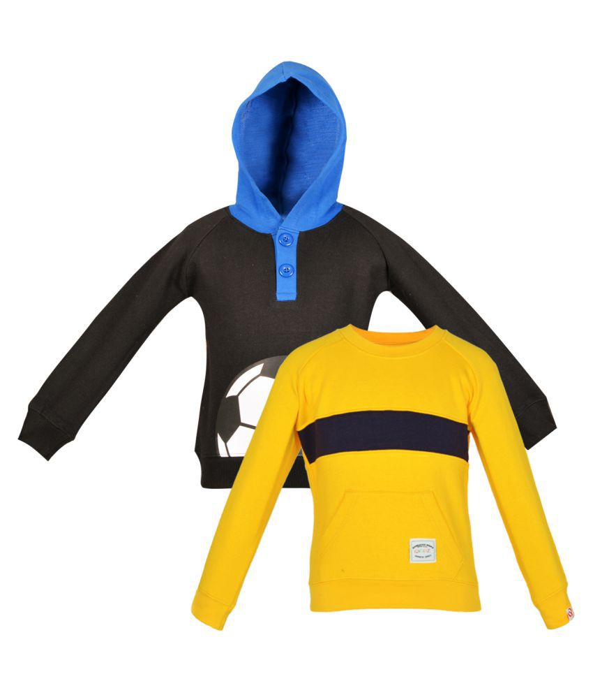 Gkidz Multicolour Fleece Sweat Shirt Pack of 2